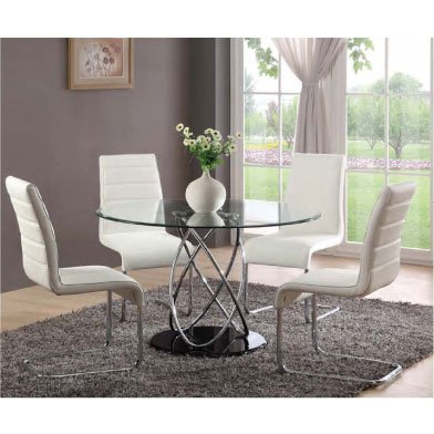 Amazing of 4 Dining Chairs Glass Dining Table With 4 Toulouse Dining Chairs
