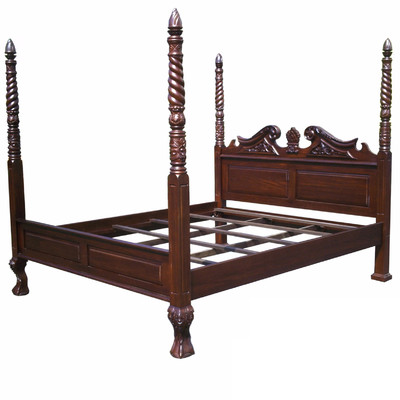 Amazing of 4 Poster Cal King Bed D Art Collection Chippendale Four Poster Bed Reviews Wayfair