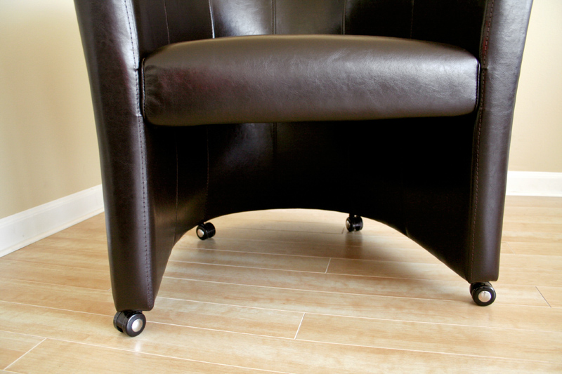Amazing of Accent Chair With Wheels Wholesale Interiors Faux Leather Club Chair With Wheels Dark Brown