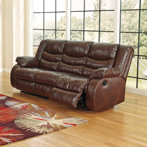 Amazing of Ashley Brown Leather Couch Signature Design Ashley Linebacker Durablend Espresso Reclining