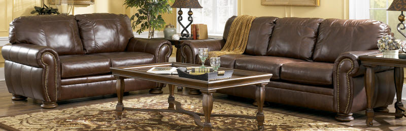 Amazing of Ashley Brown Leather Sofa Ashley Leather Sofa Roselawnlutheran