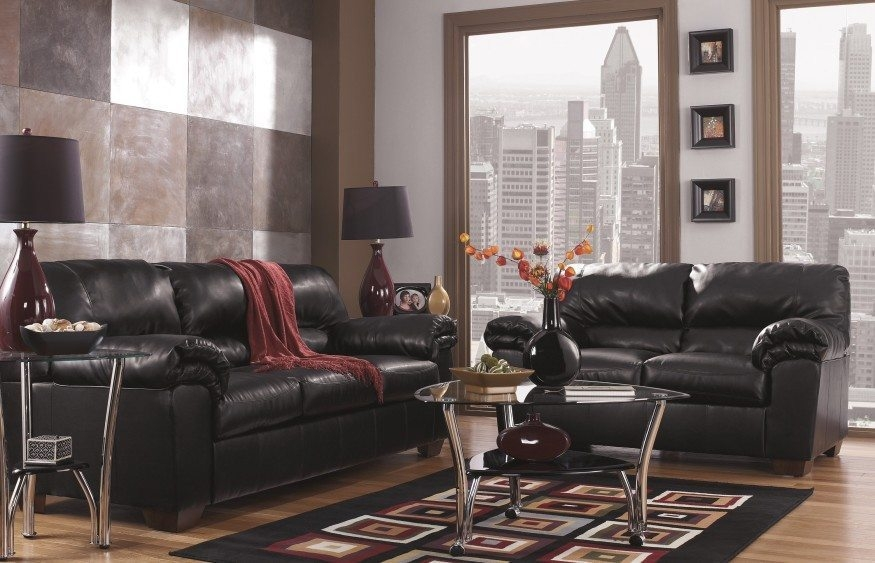 Amazing of Ashley Furniture Black Leather Couch Ashley Furniture Chaling Leather Sofa In Antique 9920038 Couch