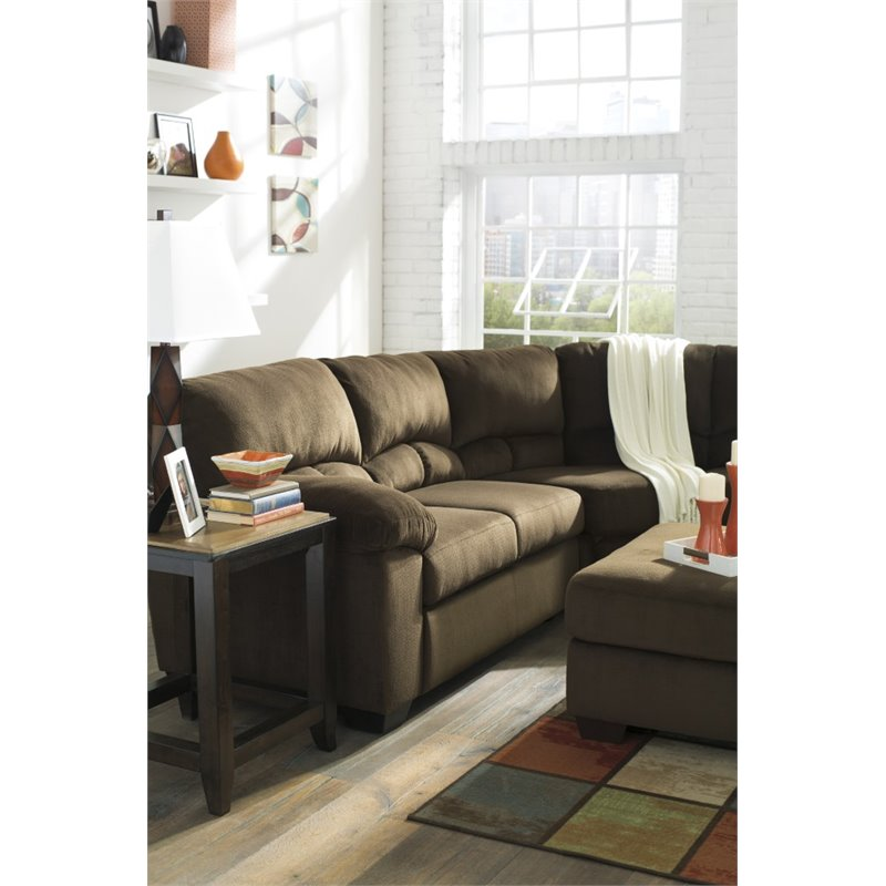 Amazing of Ashley Two Piece Sectional Ashley Dailey 2 Piece Sectional In Chocolate 95403 55 56 Kit