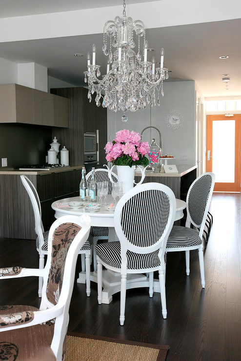 Amazing of Black And White Dining Chairs Black And White Dining Chairs Contemporary Dining Room The
