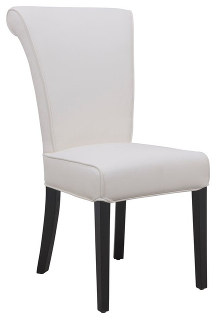 Amazing of Black And White Leather Dining Chairs Leisuremod Eden Contemporary Faux Leather Dining Chair White