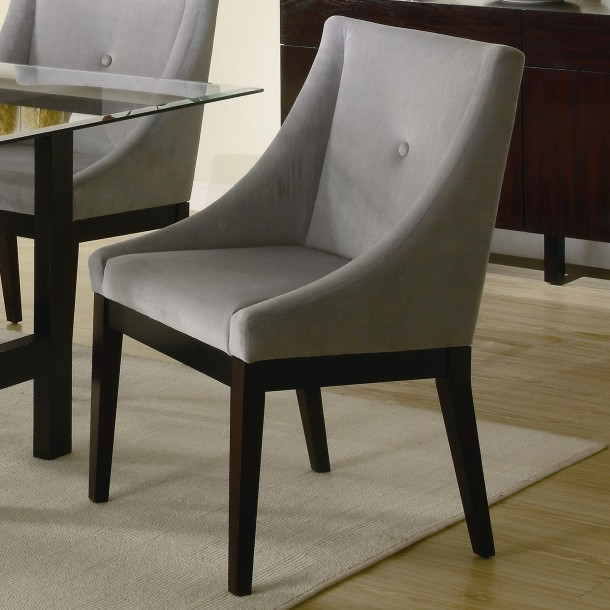 Amazing of Black Brown Dining Chairs Dining Room Contemporary Dining Chairs In Grey Theme Made Of