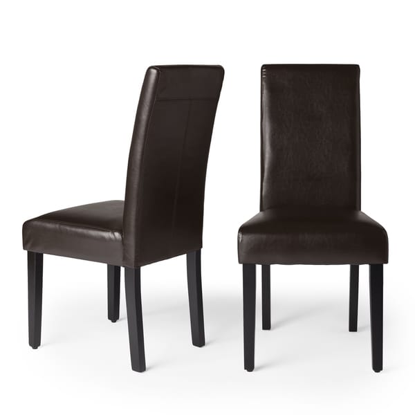 Amazing of Black Brown Dining Chairs Villa Faux Leather Brown Dining Chairs Set Of 2 Free Shipping