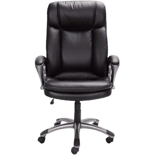 Amazing of Black Leather Office Chair Leather Office Chairs Youll Love Wayfair