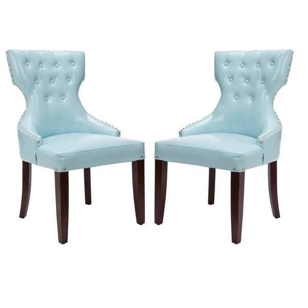 Amazing of Blue Leather Dining Room Chairs Lovely Blue Leather Dining Room Chairs And Tufted Dining Room