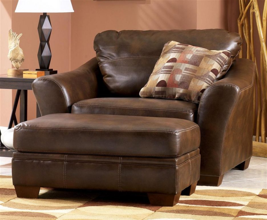 Amazing of Brown Accent Chair With Ottoman Living Room Awesome Chair Ottoman Set Modern With Brown Leather