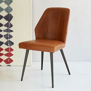 Amazing of Brown Leather Dining Chairs Crawford Leather Dining Chair Sets West Elm