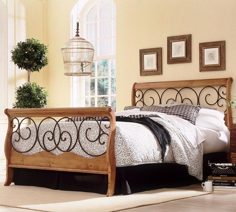 Amazing of Cal King Iron Bed California King Metal Bed Frame And Wood Vineyard King Bed
