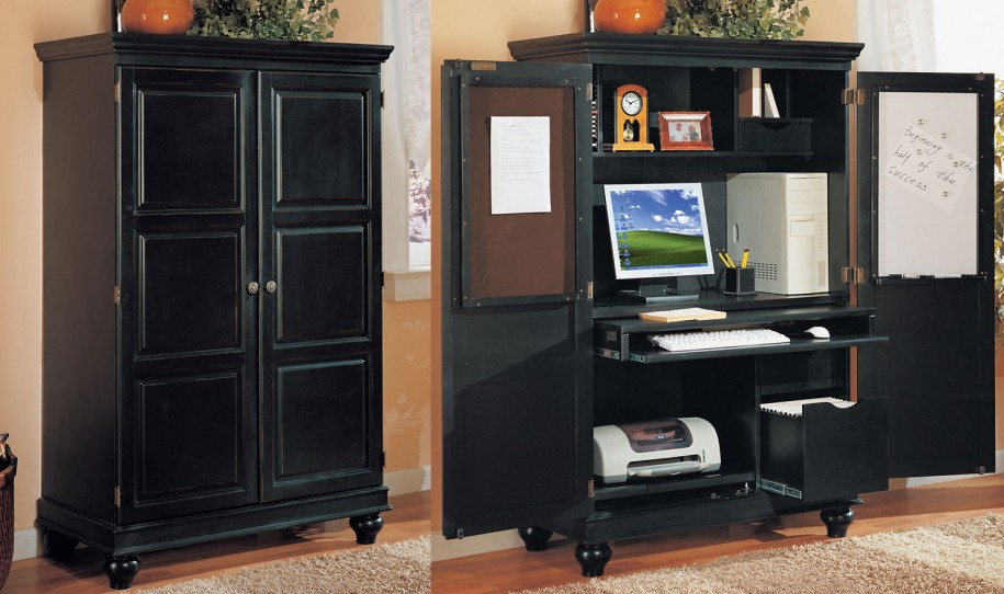 Amazing of Computer Cabinet Desk Lovable Computer Cabinets For Home Office Apartments Charming Home