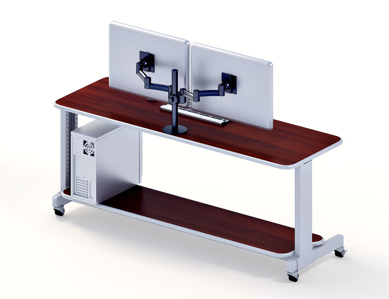 Amazing of Computer Desk For 2 Monitors Computer Armoire For Two Monitors Type Yvotube