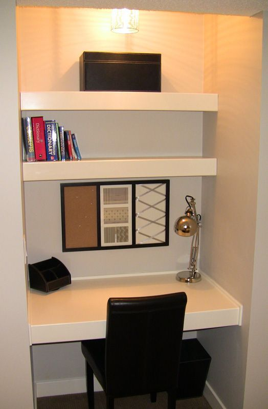 Amazing of Computer Desk Ideas For Small Room Inspiring Built In Desk Ideas For Small Spaces Alluring Office