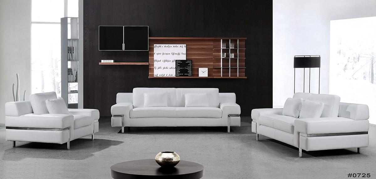 Amazing of Contemporary Leather Sofa Set Modern White Leather Sofa Set