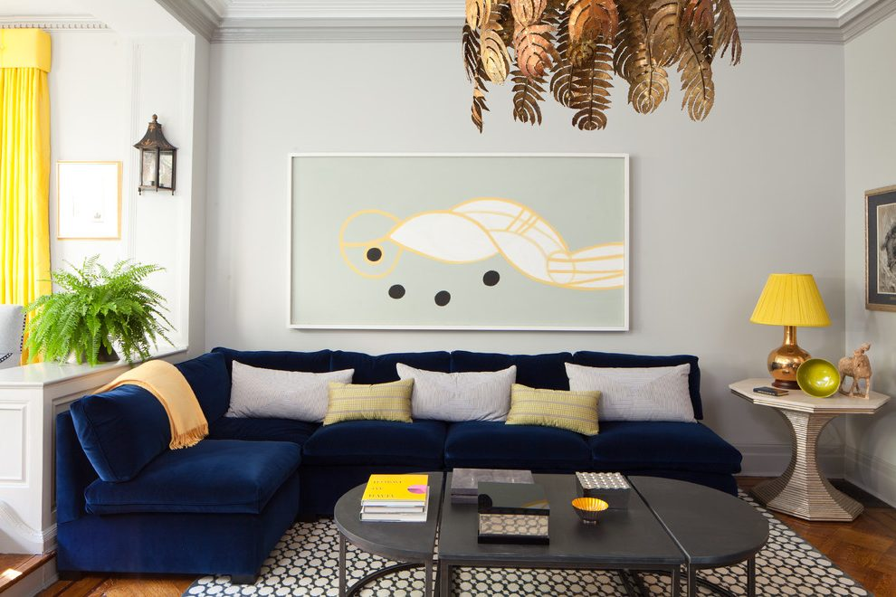 Amazing of Contemporary Navy Blue Sectional Sofa New York Navy Blue Sectional Living Room Contemporary With Gray