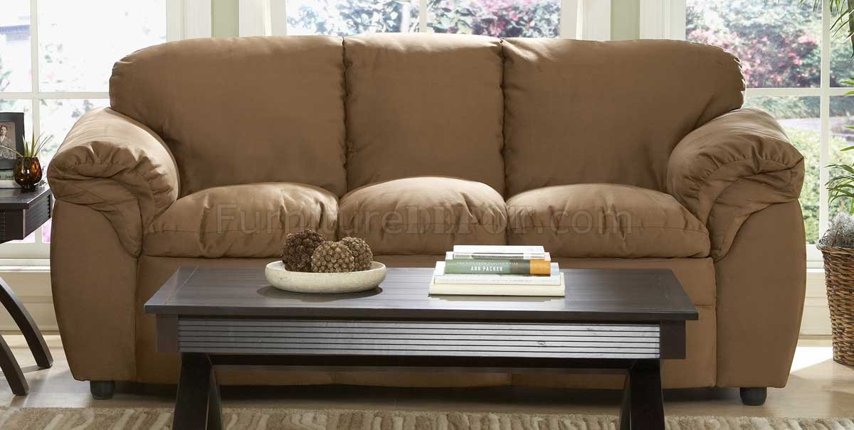 Amazing of Contemporary Sofa And Loveseat 9937br Modern Sofa Loveseat In Brown Microfiber Plush Homelegance