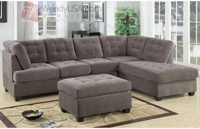 Amazing of Corner Couch With Chaise 4 Piece Sectional Sofa 4piece Sectional W Armless Sofa U0026 Left