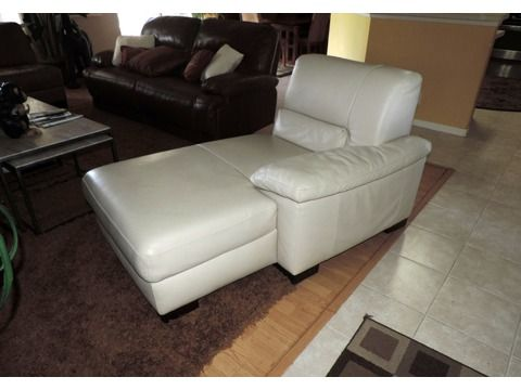 Amazing of Cream Colored Chaise Lounge Italsofa Cream Leather Chaise Lounge Crissys List Pinterest