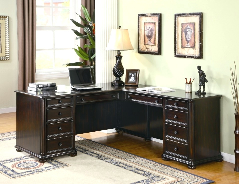 Amazing of Dark Wood Office Desk Desk Small Dark Wood Corner Desk Small Dark Wood Office Desk