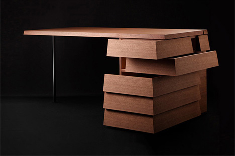 Amazing of Desk Drawer Design Extra Visual Gorgeous Desk Has Multi Directional Drawers