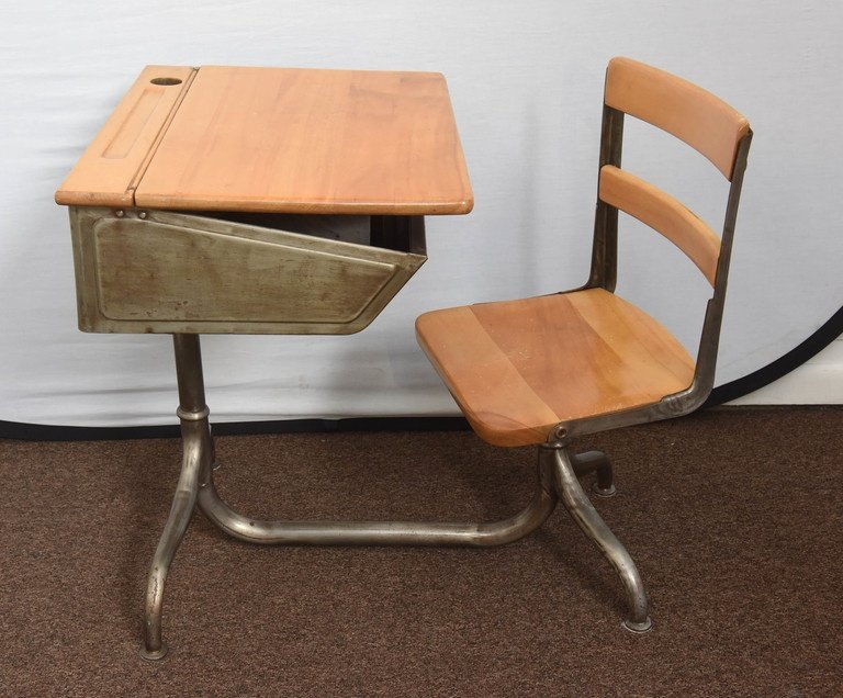 Amazing of Desk With Chair 1950s Industrial Childs School Desk For Sale At 1stdibs