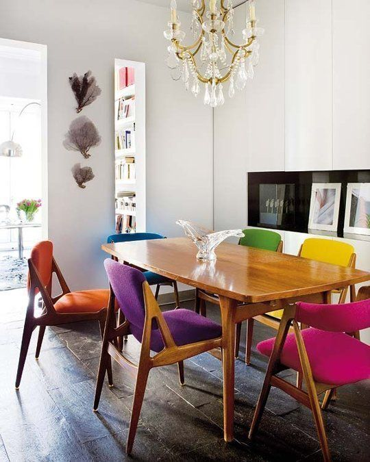 Amazing of Dining Room Chair Colors Best 25 Coloured Dining Chairs Ideas On Pinterest Bright Dining