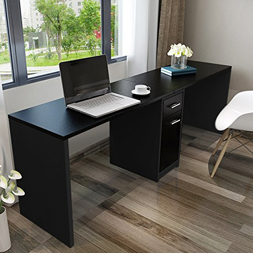 Amazing of Double Computer Desk Workstation Tribesigns Double Workstation Computer Desk With Filing Cabinet