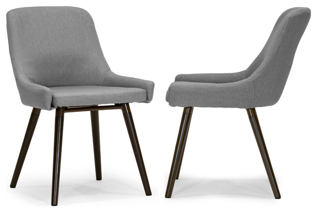 Amazing of Fabric Dining Chairs With Black Legs Ade Modern Gray Fabric Dining Chairs With Beech Legs Set Of 2