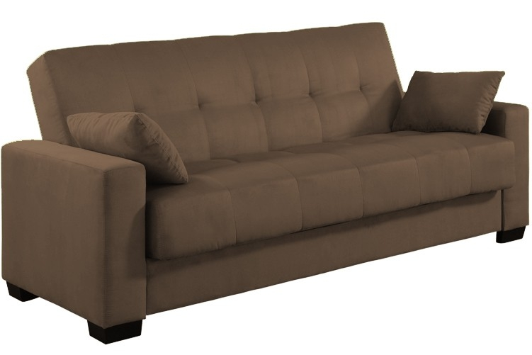 Amazing of Full Size Leather Futon Napa Contemporary Sleeper Futon Bed Brown Sofa The Full Size