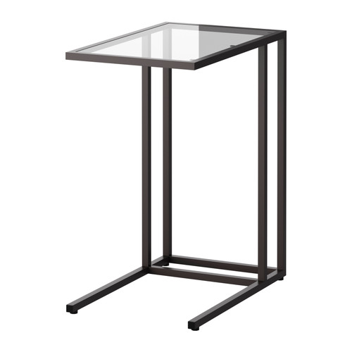 Amazing of Glass Bedside Table Ikea Vittsj Laptop Stand Black Brownglass Ikea