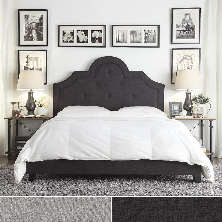 Amazing of Grey Full Size Bed Q Harper Tufted High Arching Grey Linen Upholstered Queen Size Bed