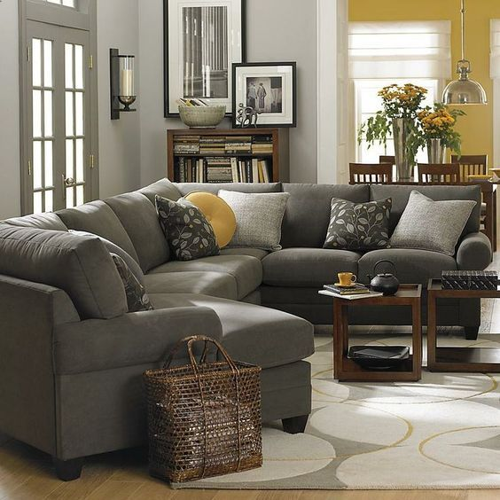 Amazing of Grey Microfiber Sectional With Chaise Best 25 Sectional Couches Ideas On Pinterest Sectional Sofa