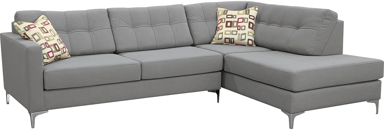 Amazing of Grey Sectional Sofa Bed The Brick Sectional Sofa Bed Ivy Polyester Right Facing Sectional