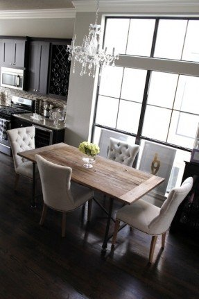 Amazing of Grey Tufted Dining Room Chairs The Tufted Dining Room Chairs Foter Concerning Grey Tufted Dining