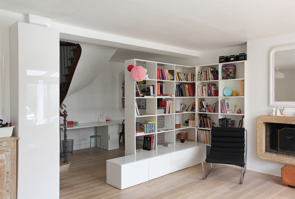 Amazing of Home Office Divider Bookcase Room Divider Home Office Eclectic With Architecture