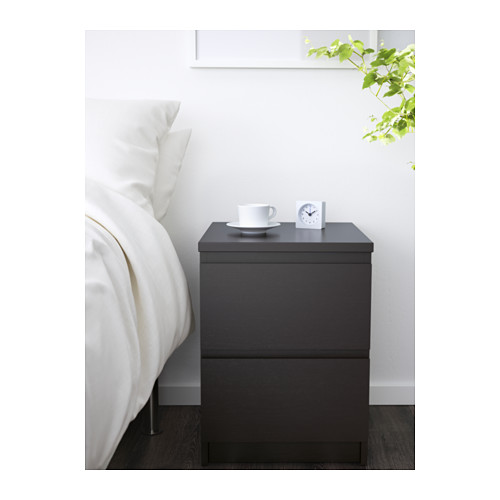 Amazing of Ikea 2 Drawer Night Stand Malm 2 Drawer Chest Black Brown 15 34x21 58 Ikea