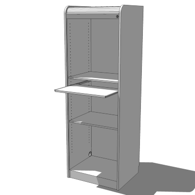 Amazing of Ikea Computer Cabinet Ikea Aspvik Roll Front Computer Cabinet 3d Model Formfonts 3d