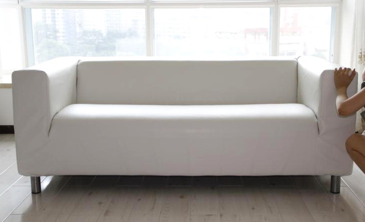 Amazing of Ikea White Leather Couch Great White Leather Sofa Ikea With Leather Slipcover For Ikea