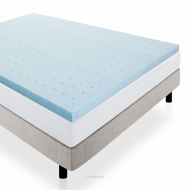 Amazing of King Bed Foam Topper Lucid 2 Inch Gel Infused Ventilated Memory Foam Mattress Topper Review