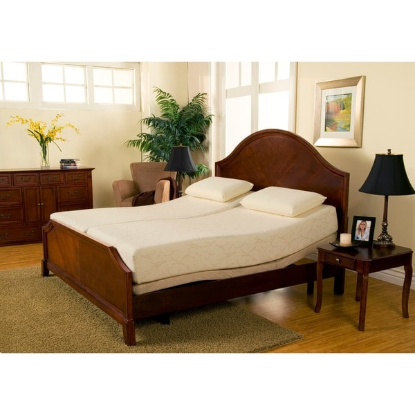 Amazing of King Bed Frame For Memory Foam Mattress Sleep Zone Premium Adjustable Bed And 8 Inch Split King Size