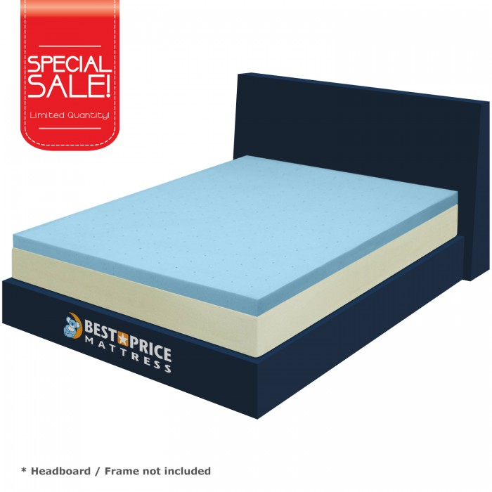 Amazing of King Foam Mattress Topper Best Price 25 Gel Infused Memory Foam Mattress Topper