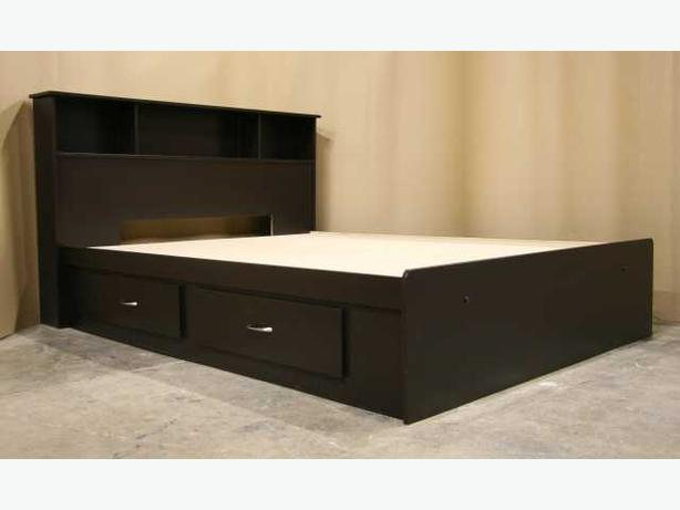 Amazing of King Size Bed Base Classic Bedroom With King Bed Frame Headboard Espresso Dark Brown