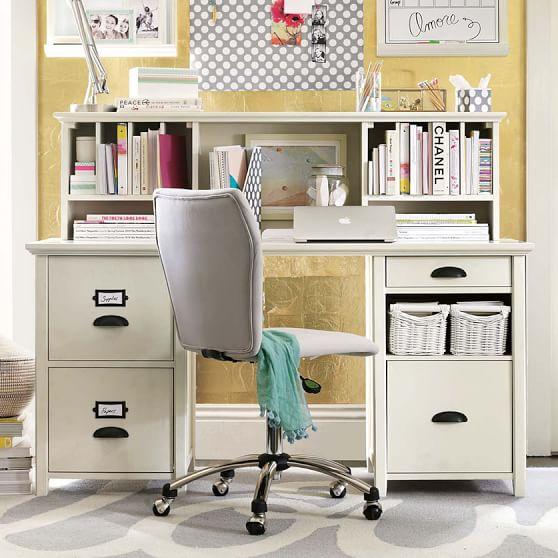 Amazing of Large Desk With Storage Chatham Large File Storage Desk Hutch Pbteen