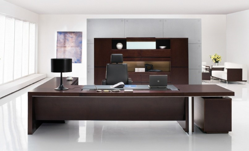 Amazing of Large Office Desk Office Modern Office Desks Ideas With Brown Wooden Executive Desk