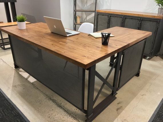 Amazing of Large Office Desk The Industrial L Shape Carruca Office Desk Large Executive Desk