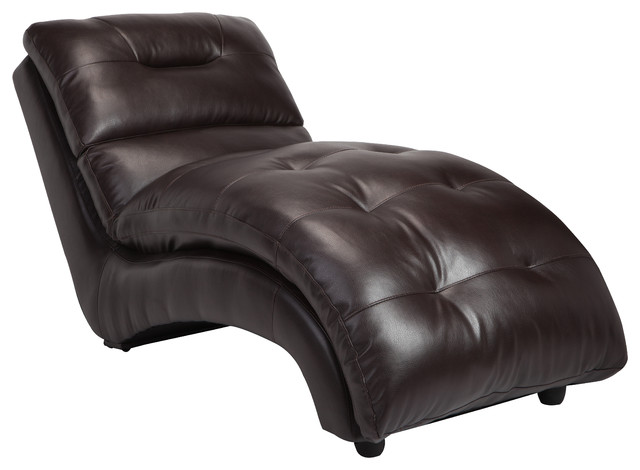 Amazing of Leather Chaise Lounge Chairs Indoors Charlotte Faux Leather Lounge Chaise Contemporary Indoor