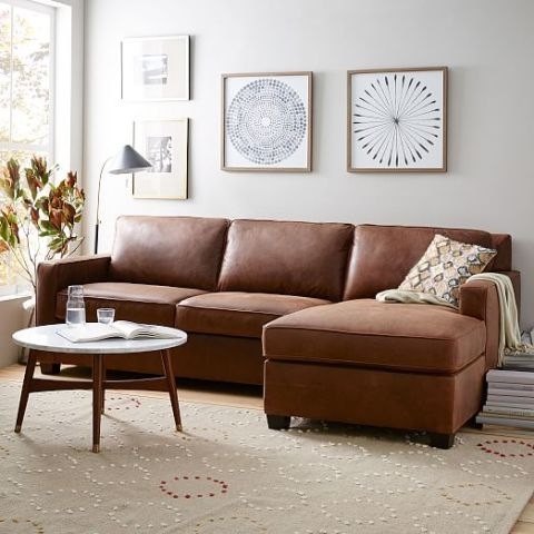 Amazing of Leather Couch With Chaise 14 Best Chaise Sofa Styles In 2017 Chic Sofas With A Chaise Lounge