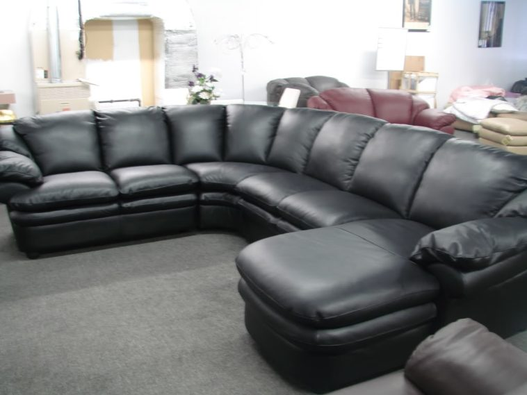 Amazing of Leather Sectional Couch With Chaise Furniture Black Leather Large Sectional Sofa With Chaise Using